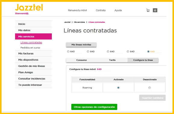 Escritorio roaming jazztel