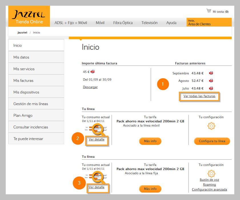 D nde consultar mi factura jazztel ayuda jazztel for Consultar pedido mediamarkt