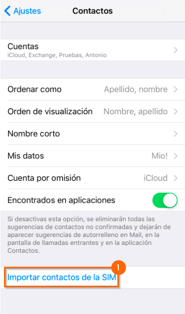 Copia contactos SIM android iphone