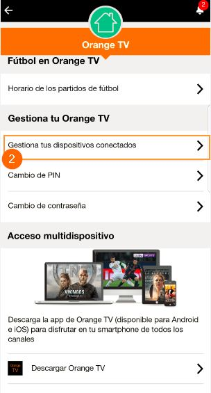 mi orange app desemparejar dispositivos 2