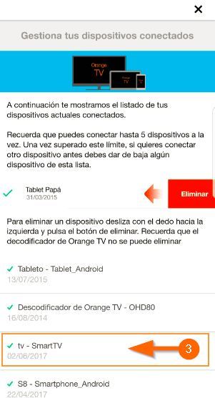 mi orange app desemparejar dispositivos 3