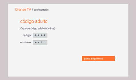 Código adulto Orange TV