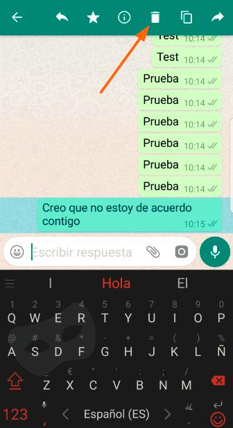 Eliminar mensagens WhatsApp