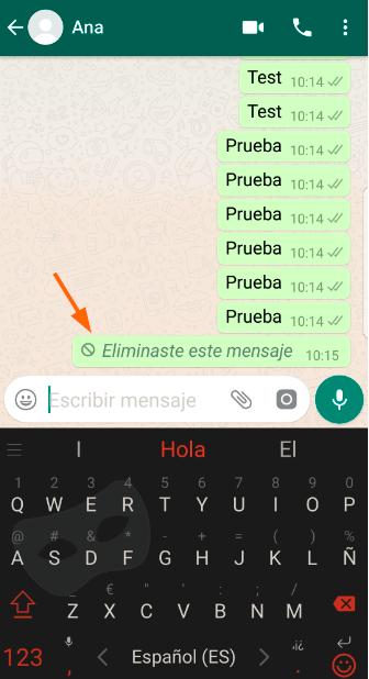 Apagar mensagens WhatsApp