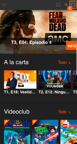 App Orange TV eliminar dispositivos 1