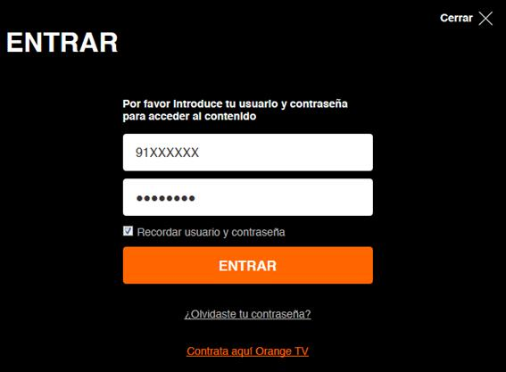 c mo ver orange tv desde un ordenador personal ayuda orange. Black Bedroom Furniture Sets. Home Design Ideas