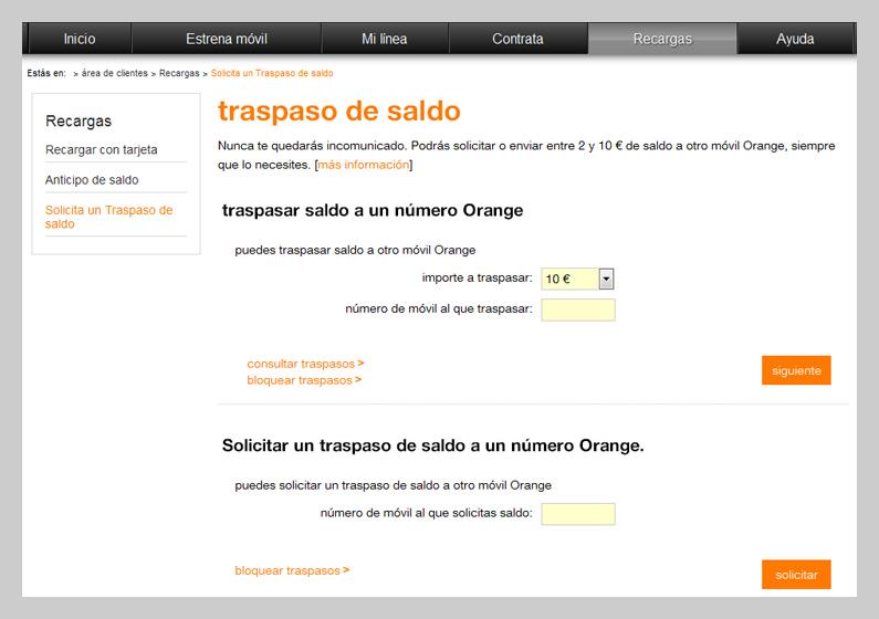 Traspaso De Saldo Ayuda Orange