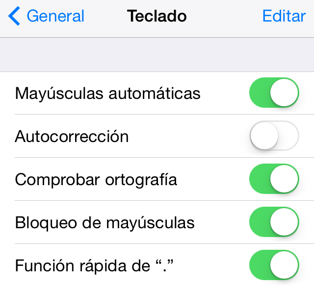 correccion iOs