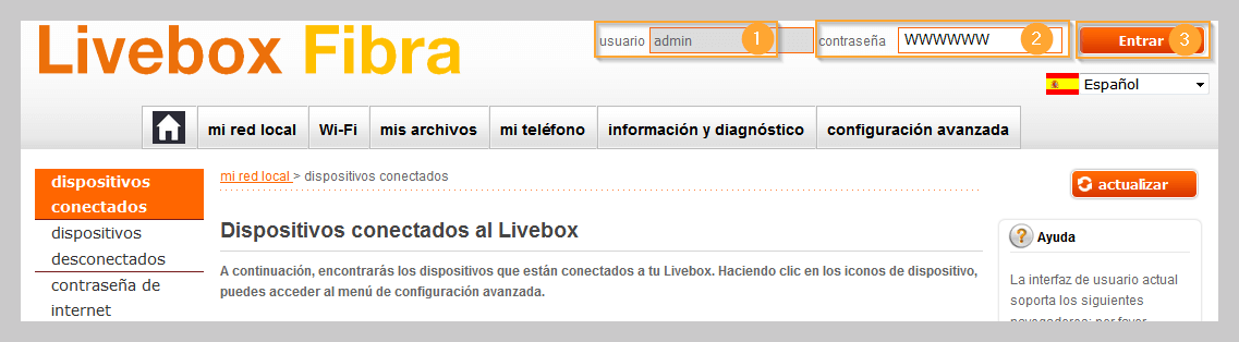 Login Livebox Fibra