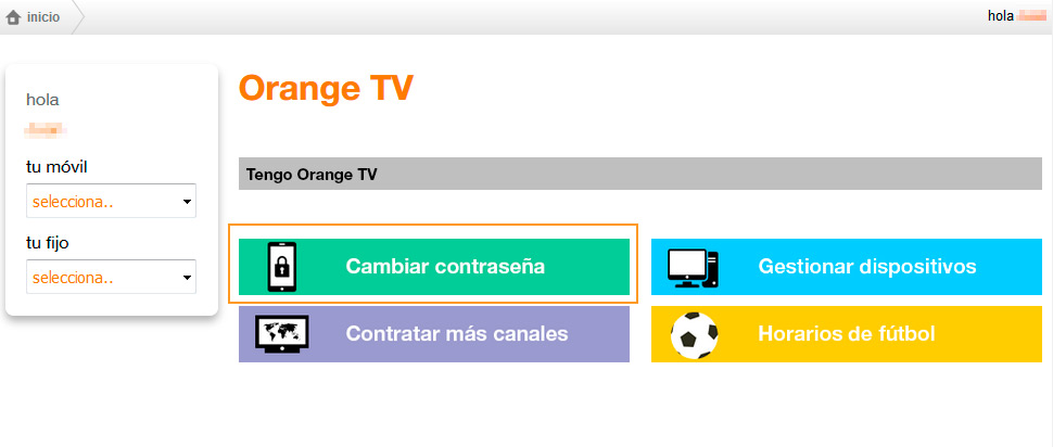 contraseña orange tv 1