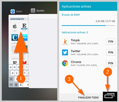 Desactivar apps en segundo plano iphone y android