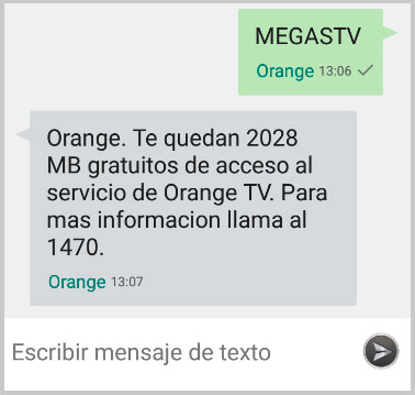 Aviso GB gratis Orange TV
