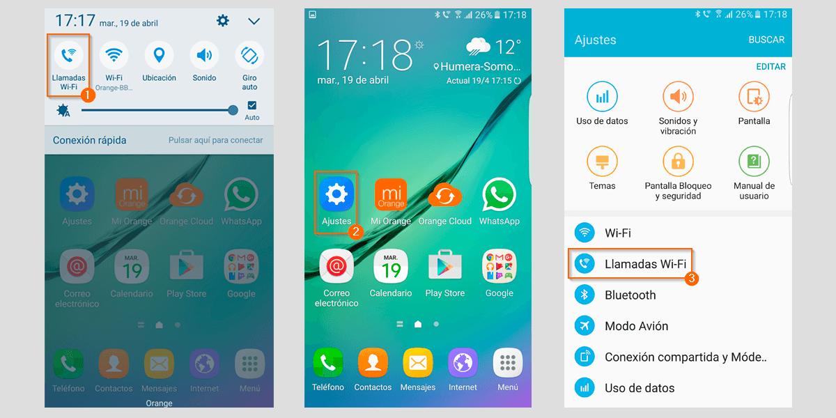 Llamadas Wi-Fi Android