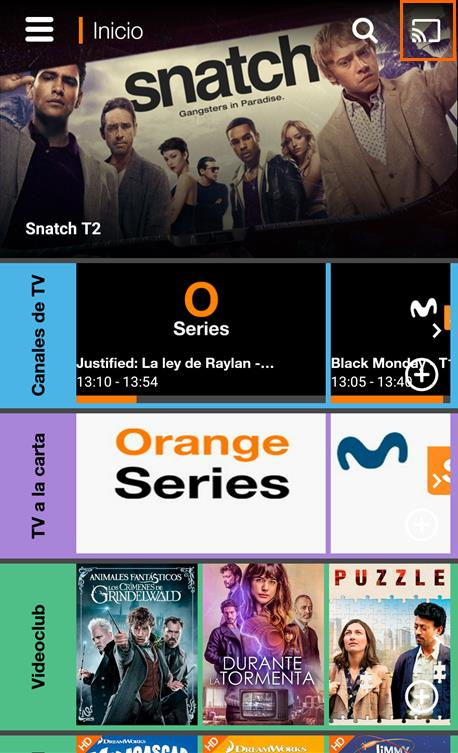 App Orange TV Chromecast